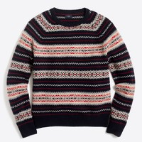 Spruce fair isle sweater