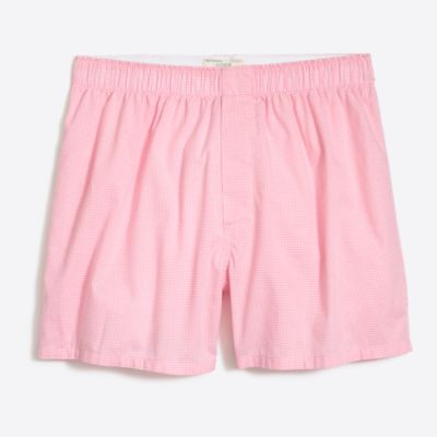 Microgingham boxers factorymen boxers & pajamas c