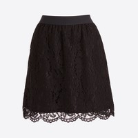 Pull-on lace skirt