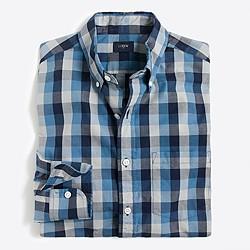 Washed tri-color gingham shirt