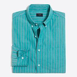 Washed striped shirt