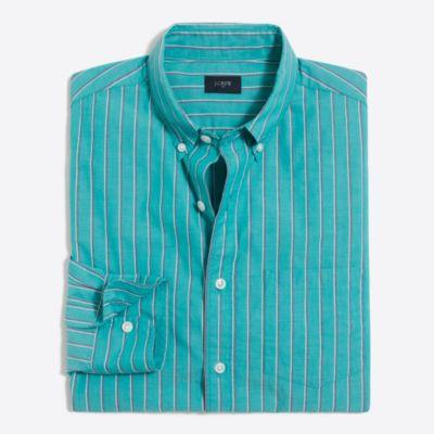 Washed striped shirt factorymen casual shirts c