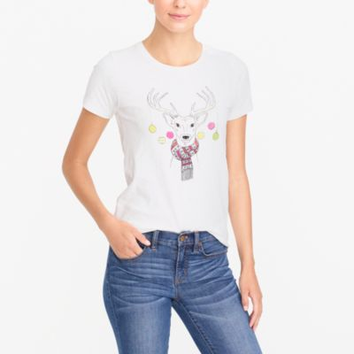 Deer in lights collector T-shirt
