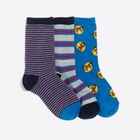 Boys' emoji socks three-pack