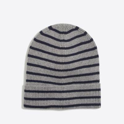 Boys' cotton marled stripe beanie