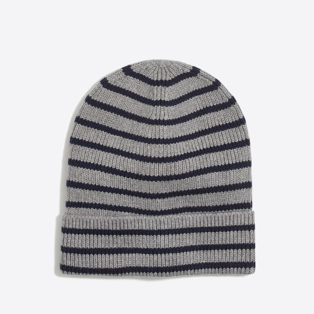 Boys' cotton marled stripe beanie