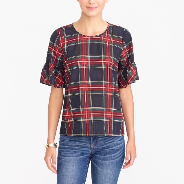 Petite drapey ruffle T-shirt