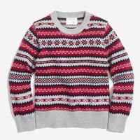 Boys' fair isle crewneck sweater