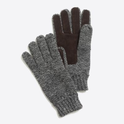 Marled suede gloves   sale