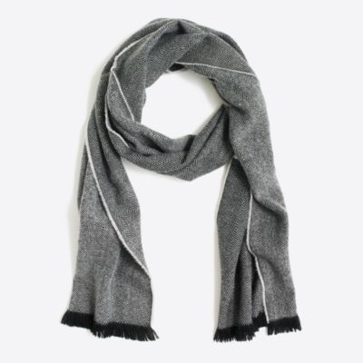 Herringbone printed scarf factorymen accessories c