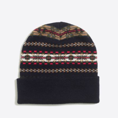 Fair Isle beanie factorymen accessories c