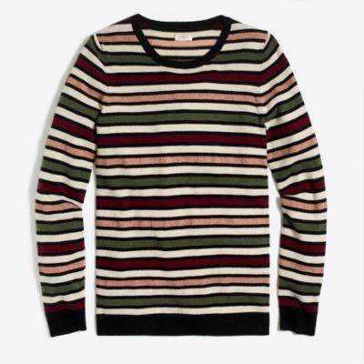Lurex stripe teddie sweater