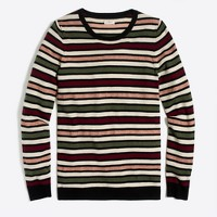 Lurex stripe teddie sweater