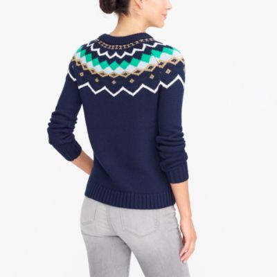 Lurex fair isle sweater : FactoryWomen Pullovers   Factory