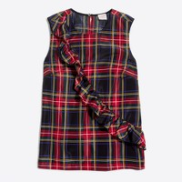 Stewart tartan plaid ruffle tank top