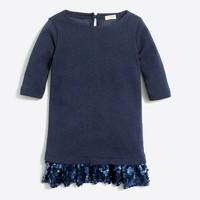Girls' sequin skirt sweatshirt dress