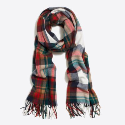 Classic plaid scarf factorywomen extra-nice list deals c