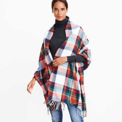 Large checked scarf
