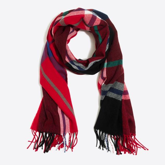 Classic plaid scarf