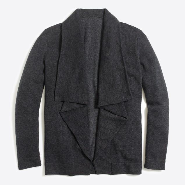 Open drapey fleece cardigan