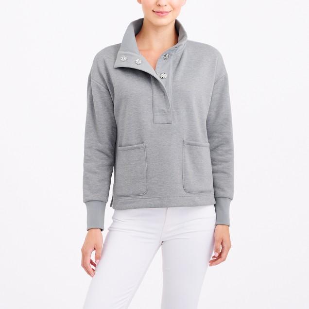 Quarter-snap pullover sweatshirt