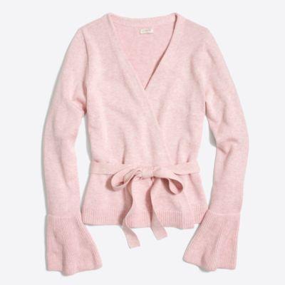 Bell-sleeve wrap sweater   sale