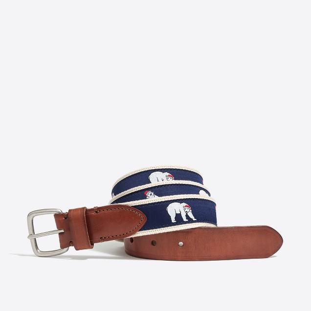 Embroidered patterned belt