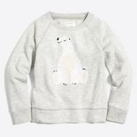Girls' sequin polar bear sweatshirt