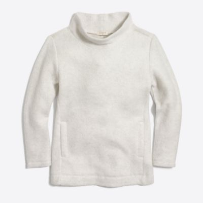 Girls' fleece cowlneck sweatshirt