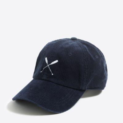 Corduroy baseball cap   sale