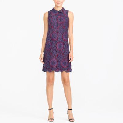 Lace collar dress factorywomen dress-up shop c