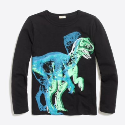 Boys' long-sleeve glow-in-the-dark dino storybook T-shirt factoryboys knits & t-shirts c