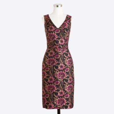 Jacquard V-neck dress   sale