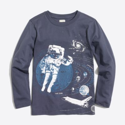 Boys' long-sleeve astronaut in space storybook T-shirt factoryboys knits & t-shirts c