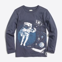 Boys' long-sleeve astronaut in space storybook T-shirt