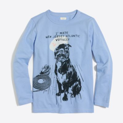 Boys' long-sleeve nautical dog storybook T-shirt factoryboys new arrivals c