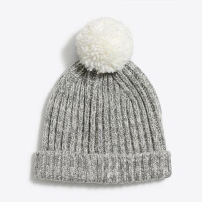 Cozy marled pom-pom hat
