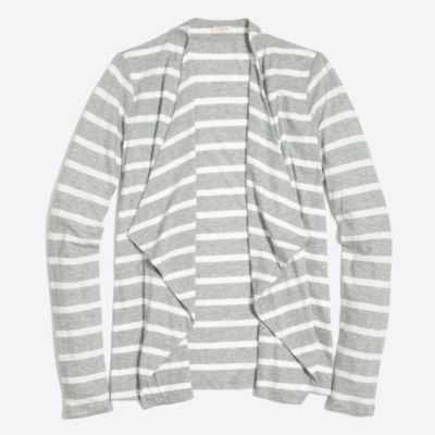 Striped Always cascading cardigan factorywomen knits & t-shirts c