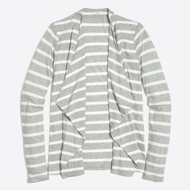 Striped Always cascading cardigan