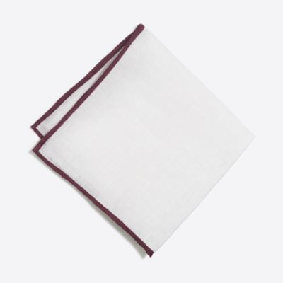 Tipped linen pocket square factorymen new arrivals c