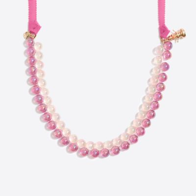 Girls' winter gumball necklace
