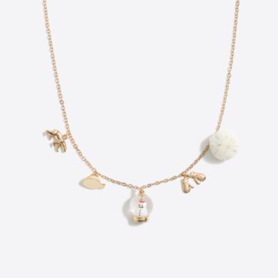 Girls' winter charm necklace
