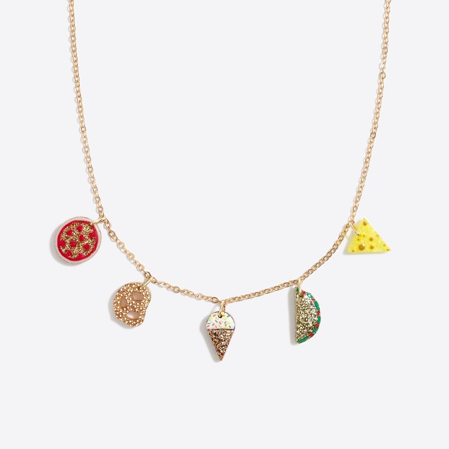 Girls' snack charm necklace