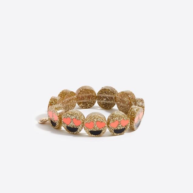 Girls' heart eyes emoji bracelet