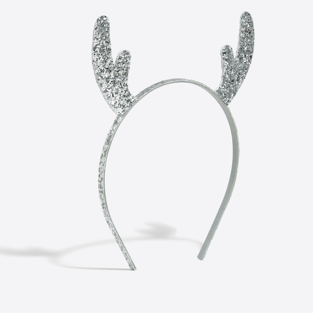 Girls' glitter antlers headband