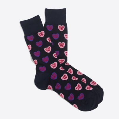 Candy hearts socks factorymen socks & shoes c
