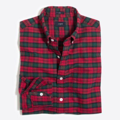 Slim tartan oxford shirt