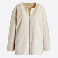 Sherpa bomber jacket