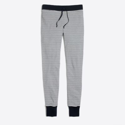 Striped waffle leggings factorywomen weekend collection c
