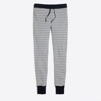 Striped waffle leggings